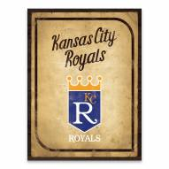 Kansas City Royals Vintage Card Printed Canvas