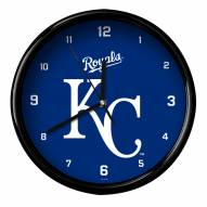 Kansas City Royals Black Rim Clock