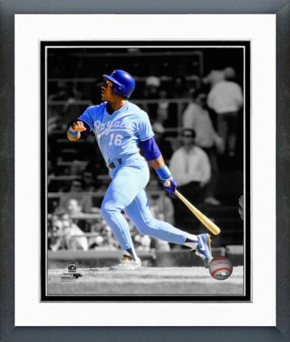 Kansas City Royals Bo Jackson Spotlight Action Framed Photo