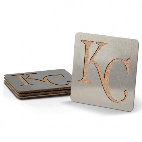 Kansas City Royals Boasters Stainless Steel Coasters - Set of 4