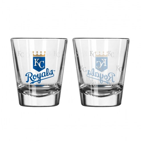 Kansas City Chiefs Satin Etch Shot Glass Set