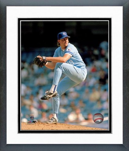 Kansas City Royals Bret Saberhagen Framed Photo