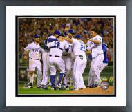 Kansas City Royals Celebrate Clinching the Central Division title Framed Photo