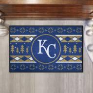 Kansas City Royals Christmas Sweater Starter Rug