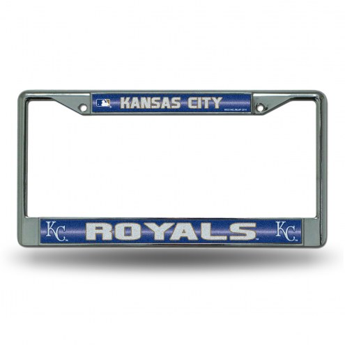Kansas City Royals Chrome Glitter License Plate Frame