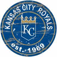 Kansas City Royals Distressed Round Sign