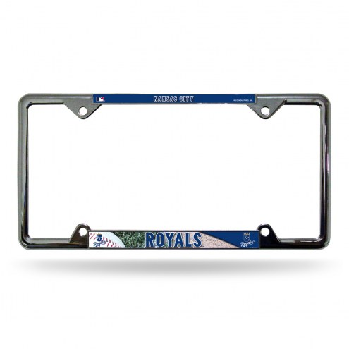 Kansas City Royals Easy View Chrome License Plate Frame