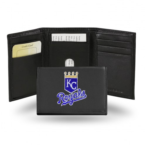 Kansas City Royals Embroidered Leather Tri-Fold Wallet