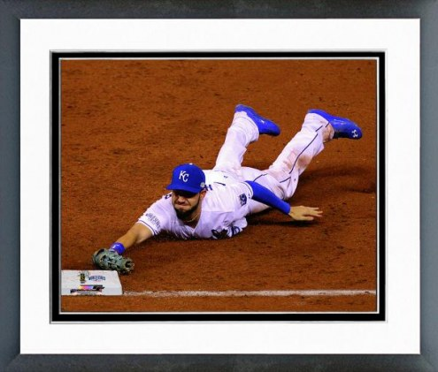 Kansas City Royals Eric Hosmer Game 2 of the World Series Action Framed Photo