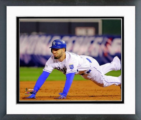Kansas City Royals Eric Hosmer Game 6 of the World Series Action Framed Photo