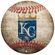 Kansas City Royals Baseball Shaped Sign