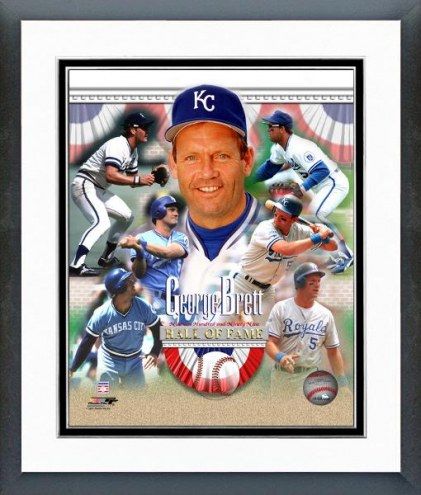 Kansas City Royals George Brett Hall of Fame Framed Photo