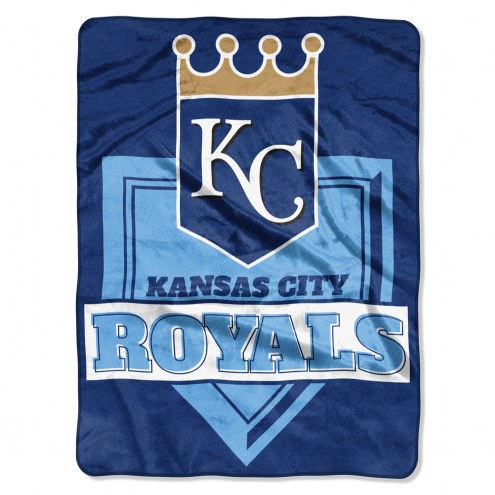 Kansas City Royals Home Plate Raschel Blanket