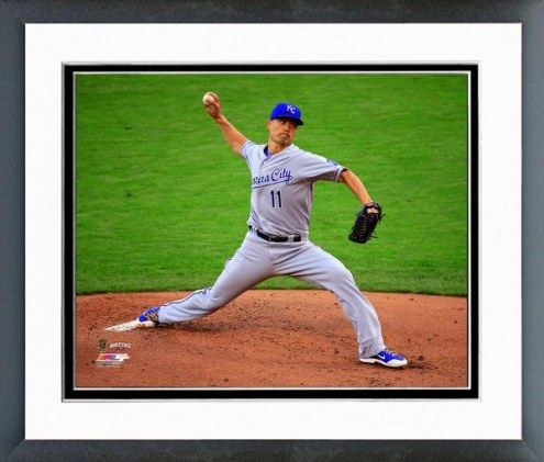 Kansas City Royals Jeremy Guthrie World Series Action Framed Photo
