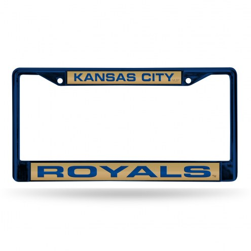 Kansas City Royals Laser Colored Chrome License Plate Frame