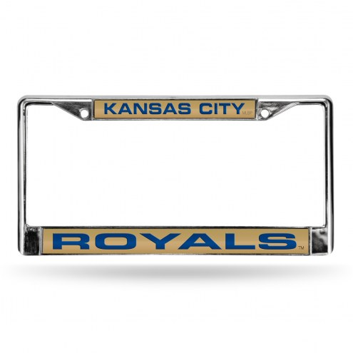 Kansas City Royals Laser Rico Chrome License Plate Frame