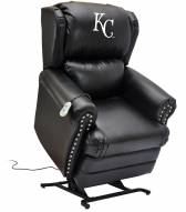 Kansas City Royals Leather Coach Lift Recliner