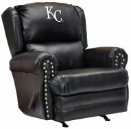 Kansas City Royals Leather Coach Recliner