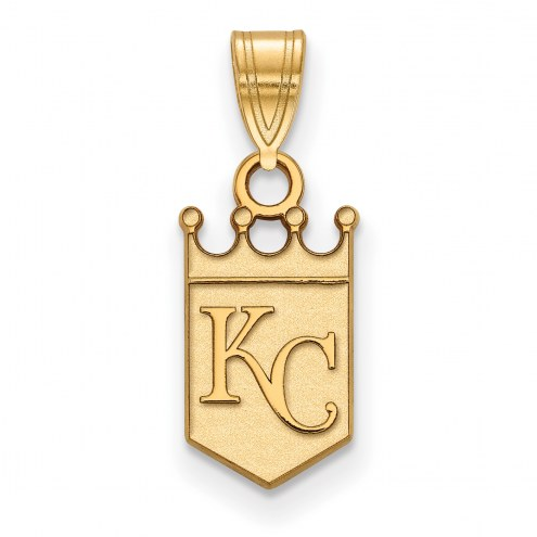 Kansas City Royals Logo Art Sterling Silver Gold Plated Small Pendant