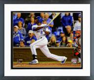 Kansas City Royals Lorenzo Cain Game 6 of the World Series Action Framed Photo
