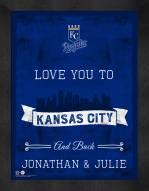 Kansas City Royals Love You to and Back Framed Print