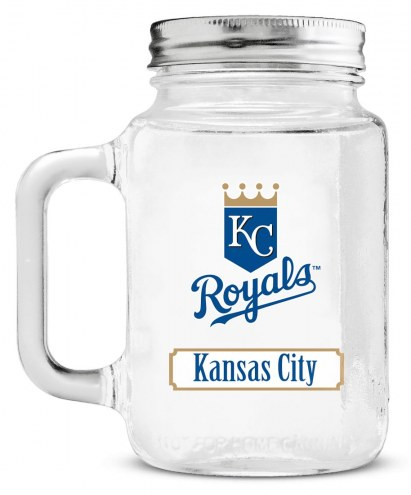 Kansas City Royals Mason Glass Jar