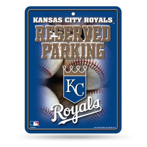 Kansas City Royals Metal Parking Sign
