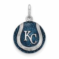 Kansas City Royals Sterling Silver Baseball Pendant