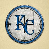 Kansas City Royals MLB Stained Glass Wall Clock