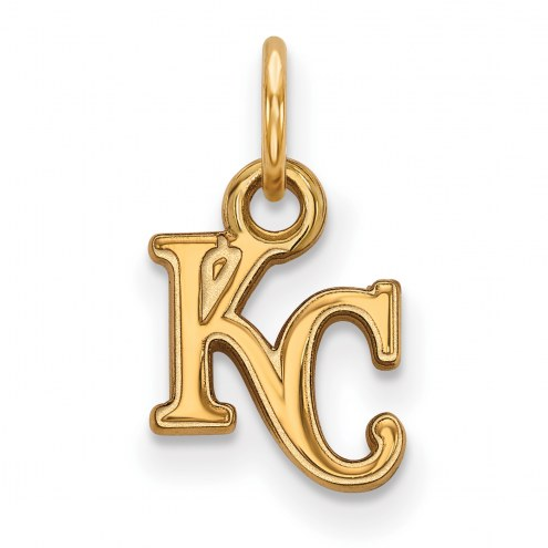 Kansas City Royals MLB Sterling Silver Gold Plated Extra Small Pendant