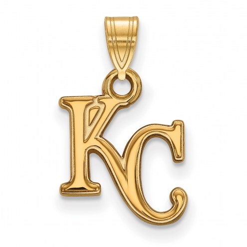 Kansas City Royals MLB Sterling Silver Gold Plated Small Pendant