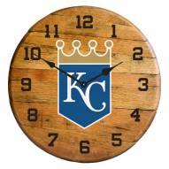 Kansas City Royals Oak Barrel Clock