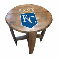 Kansas City Royals Oak Barrel Table