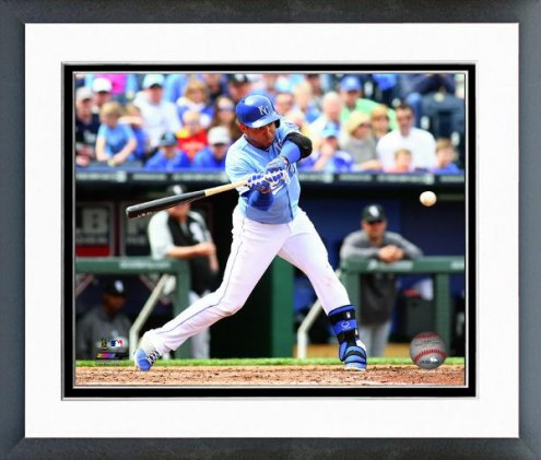 Kansas City Royals Omar Infante Action Framed Photo