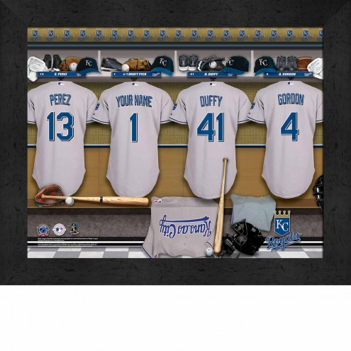Kansas City Royals Personalized Locker Room 11 x 14 Framed Photograph