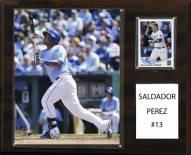 """Kansas City Royals Salvador Perez 12"""" x 15"""" Player Plaque"""