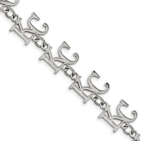 Kansas City Royals Stainless Steel Logo Bracelet