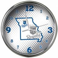 Kansas City Royals State of Mind Chrome Clock