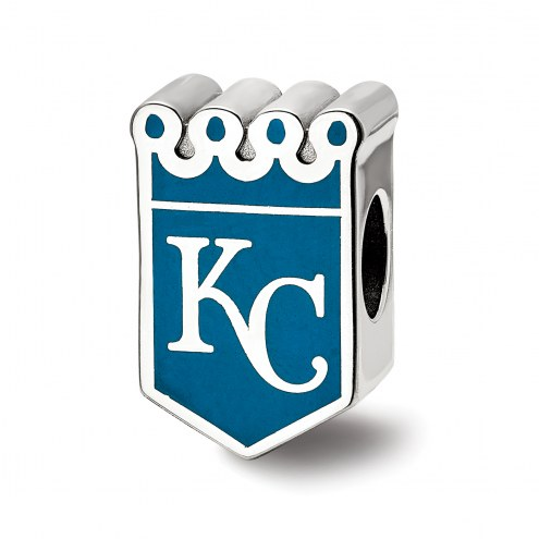 Kansas City Royals Sterling Silver Enameled Bead