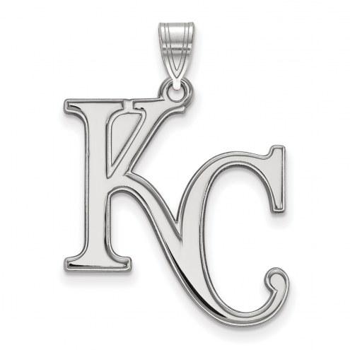 Kansas City Royals Sterling Silver Extra Large Pendant