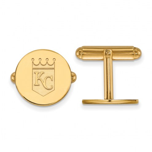 Kansas City Royals Sterling Silver Gold Plated Cuff Links
