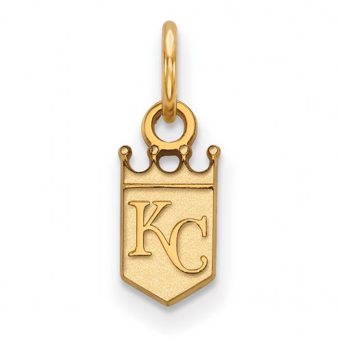 Kansas City Royals Sterling Silver Gold Plated Extra Small Pendant