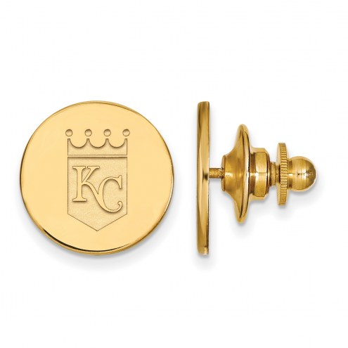 Kansas City Royals Sterling Silver Gold Plated Lapel Pin