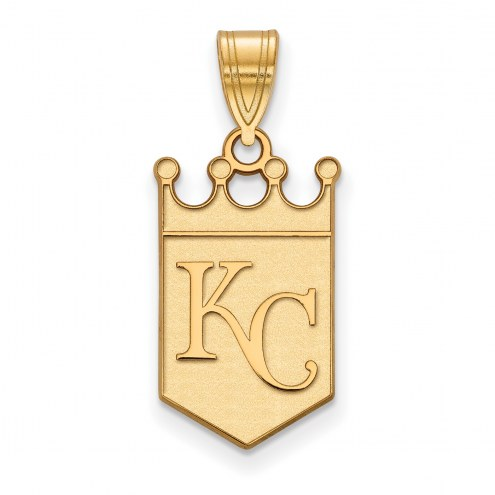 Kansas City Royals Sterling Silver Gold Plated Large Pendant