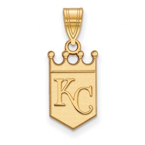 Kansas City Royals Sterling Silver Gold Plated Medium Pendant