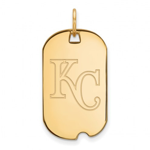Kansas City Royals Sterling Silver Gold Plated Small Dog Tag