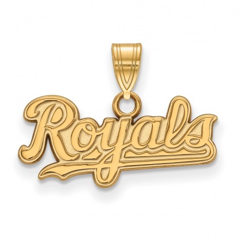 Kansas City Royals Sterling Silver Gold Plated Small Pendant