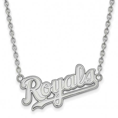 Kansas City Royals Sterling Silver Large Pendant Necklace