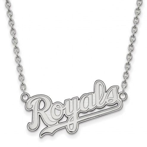 Kansas City Royals Sterling Silver Large Pendant Necklace