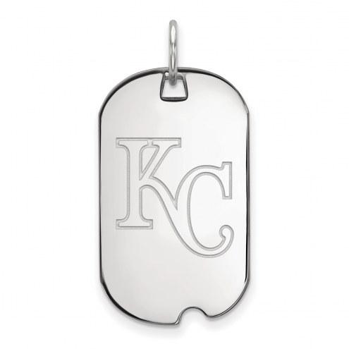 Kansas City Royals Sterling Silver Small Dog Tag